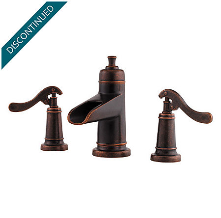 Rustic Bronze Ashfield Widespread Bath Faucet - T49-YP1U - 1