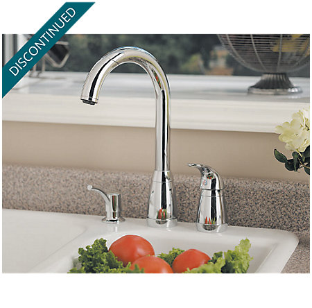 Polished Chrome Contempra 1-Handle Kitchen Faucet - T526-5CC - 2