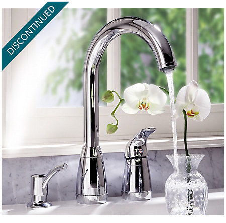 Polished Chrome Contempra 1-Handle Kitchen Faucet - T526-5CC - 4