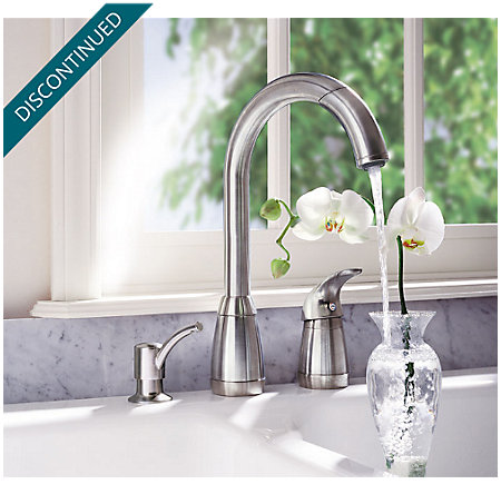 Stainless Steel Contempra 1-Handle Kitchen Faucet - T526-5SS - 5