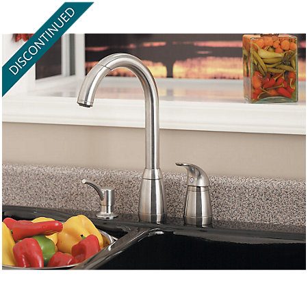 Stainless Steel Contempra 1-Handle Kitchen Faucet - T526-5SS - 6