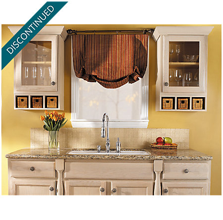 Polished Chrome Hanover 1-Handle, Pull-out/Pull-Down Kitchen Faucet - T526-TMC - 3