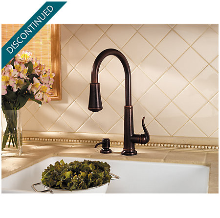 Rustic Bronze Ashfield 1-Handle, Pull-Down Kitchen Faucet - T529-YPU - 4
