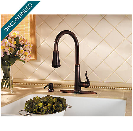 Rustic Bronze Ashfield 1-Handle, Pull-Down Kitchen Faucet - T529-YPU - 5