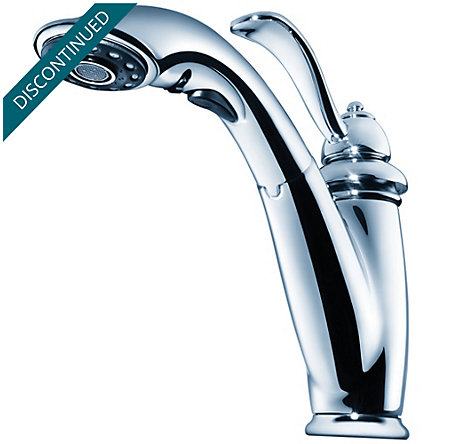 Polished Chrome Marielle 1-Handle, Pull-Out Kitchen Faucet - T532-7CC - 9