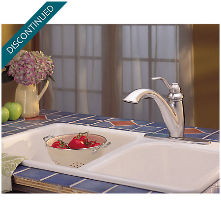Stainless Steel Marielle 1-Handle, Pull-Out Kitchen Faucet - T532-7SS - 9