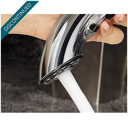 Polished Chrome Parisa 1-Handle, Pull-Out Kitchen Faucet - T534-7CC - 10