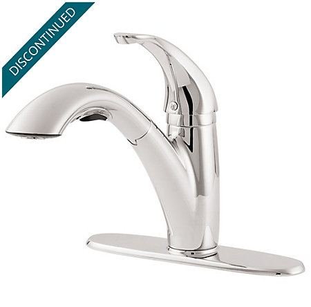 Polished Chrome Parisa 1-Handle, Pull-Out Kitchen Faucet - T534-7CC - 3