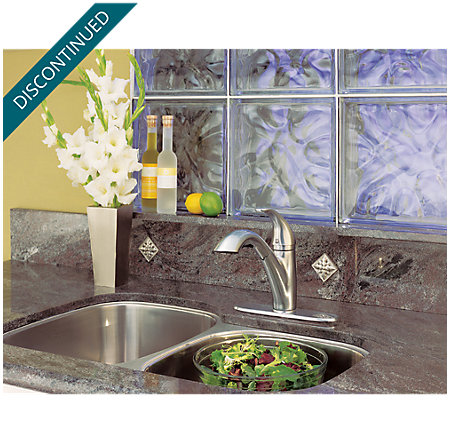 Stainless Steel Parisa 1-Handle, Pull-Out Kitchen Faucet - T534-7SS - 4