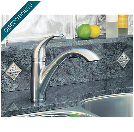 Stainless Steel Parisa 1-Handle, Pull-Out Kitchen Faucet - T534-7SS - 5