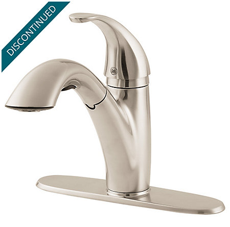 Stainless Steel Parisa 1-Handle, Pull-Out Kitchen Faucet - T534-7SS - 2
