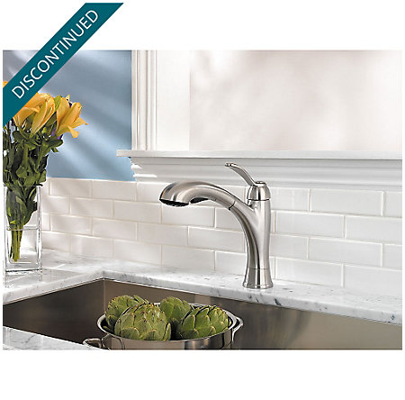 Stainless Steel Clairmont 1-Handle, Pull-out/Pull-Down Kitchen Faucet - T534-CMS - 3