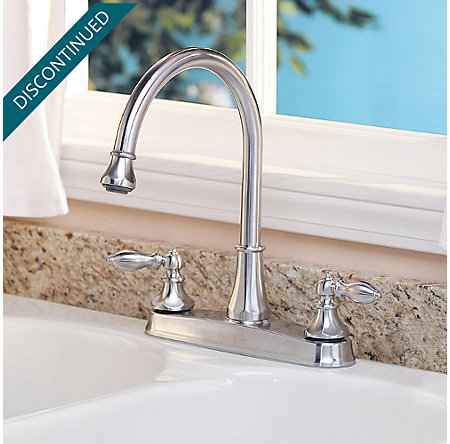 Stainless Steel Catalina 2-Handle, Pull-out/Pull-Down Kitchen Faucet - T536-EBS - 1