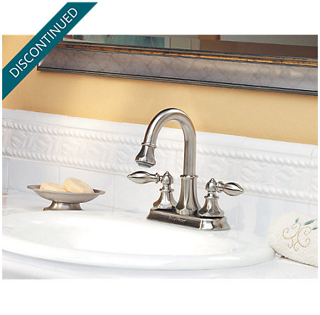 Brushed Nickel Catalina Centerset, Pull-out Bath Faucet - T548-EBK - 2