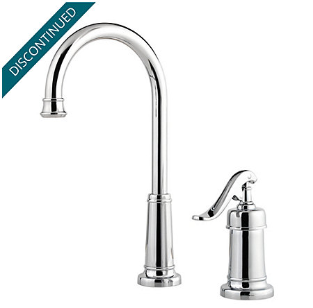 Polished Chrome Ashfield Bar/Prep Kitchen Faucet - T72-YP2C - 1