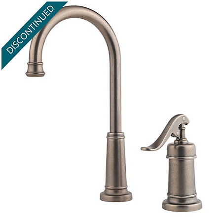 Rustic Pewter Ashfield Bar/Prep Kitchen Faucet - T72-YP2E - 1