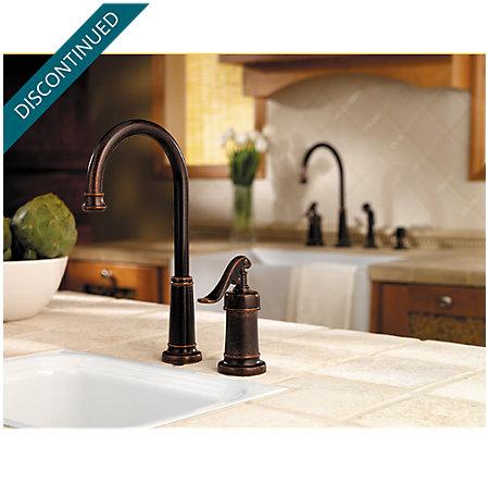 Rustic Bronze Ashfield Bar/Prep Kitchen Faucet - T72-YP2U - 2