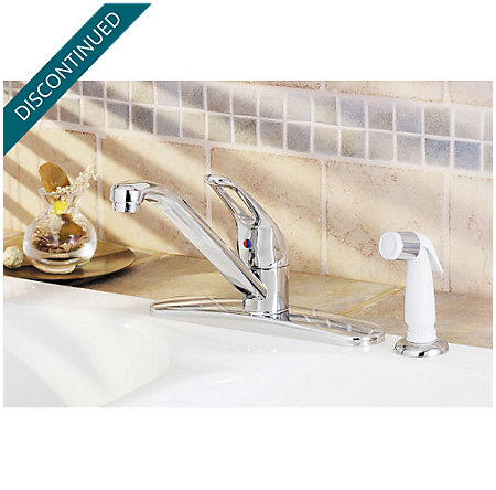 Polished Chrome Classic 1-Handle Kitchen Faucet - WK1-140C - 2