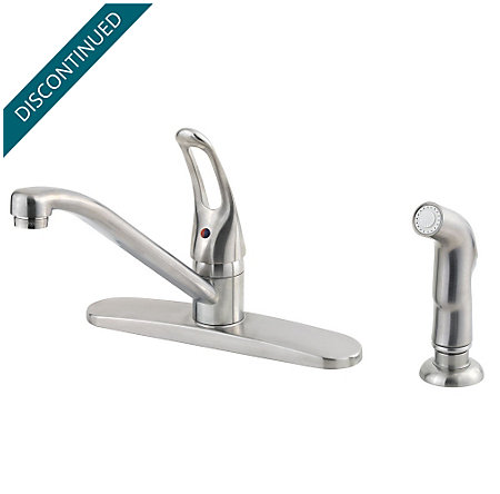 Stainless Steel Classic 1-Handle Kitchen Faucet - WK1-140S - 1