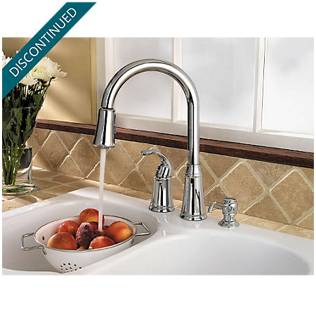 Polished Chrome Classic 1-Handle, Pull-out/Pull-Down Kitchen Faucet - WKP-650C - 2