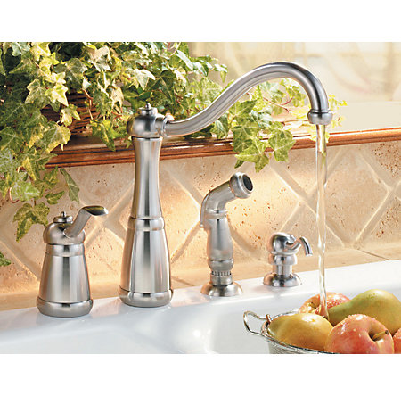 Stainless Steel Marielle 1-Handle Kitchen Faucet - LF-026-4NSS - 2