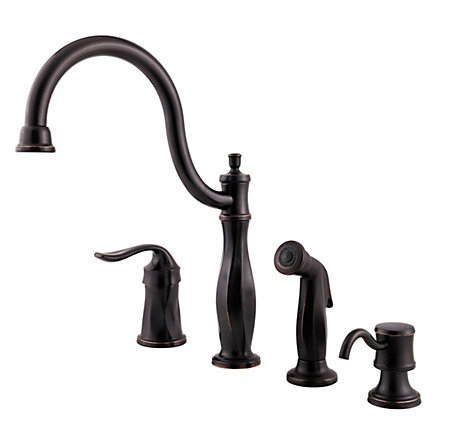 Tuscan Bronze Cadenza 1-Handle Kitchen Faucet - F-026-4TWY - 1