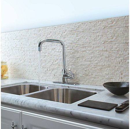 Polished Chrome Fullerton 1-Handle Kitchen Faucet - F-029-3FTC - 4