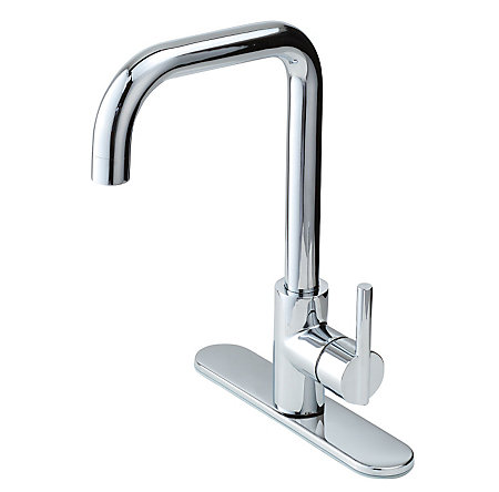 Polished Chrome Fullerton 1-Handle Kitchen Faucet - F-029-3FTC - 2