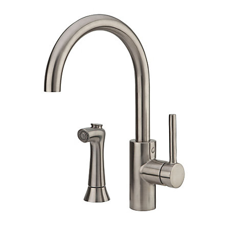 stainless steel solo 1-handle kitchen faucet - f-029-4sls - 1