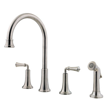 Stainless Steel Bellport 2-Handle Kitchen Faucet - F-031-4BPS - 1