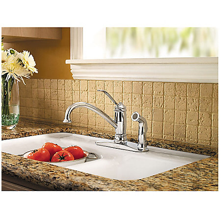 Polished Chrome Brookwood 1-Handle Kitchen Faucet - F-034-3ALC - 2