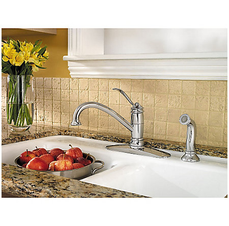 Polished Chrome Brookwood 1-Handle Kitchen Faucet - F-034-4ALC - 2