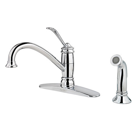 Polished Chrome Brookwood 1-Handle Kitchen Faucet - LF-034-4ALC - 1