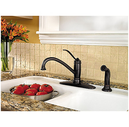 Tuscan Bronze Brookwood 1-Handle Kitchen Faucet - F-034-4ALY - 2
