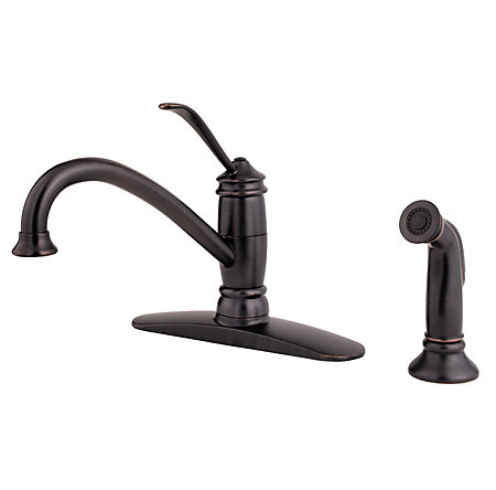 Tuscan Bronze Brookwood 1-Handle Kitchen Faucet - F-034-4ALY - 1