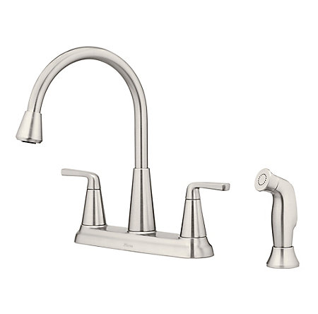 Spot Defense Stainless Steel Allegan 2-Handle Kitchen Faucet - F-036-4AGGS - 1