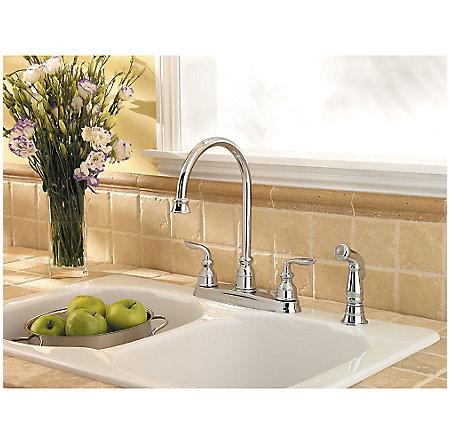 Polished Chrome Avalon 2-Handle Kitchen Faucet - LF-036-4CBC - 3