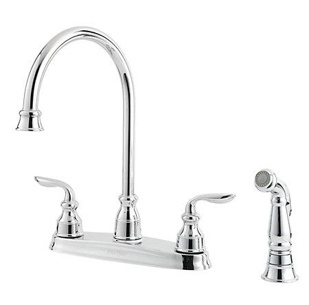 Polished Chrome Avalon 2-Handle Kitchen Faucet - LF-036-4CBC - 1