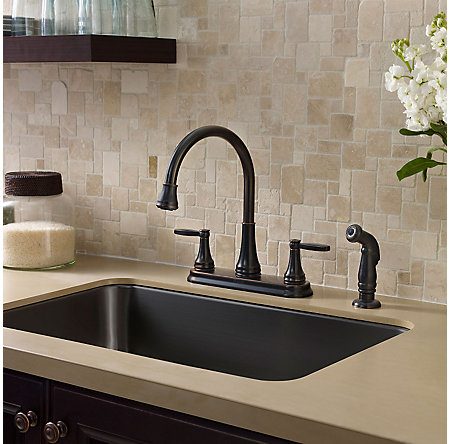 Tuscan Bronze Glenfield 2-Handle Kitchen Faucet - F-036-4GFY - 2