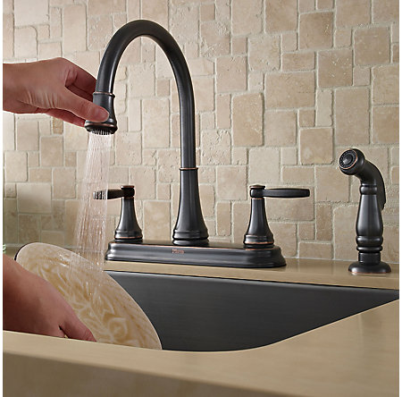 Tuscan Bronze Glenfield 2-Handle Kitchen Faucet - F-036-4GFY - 4