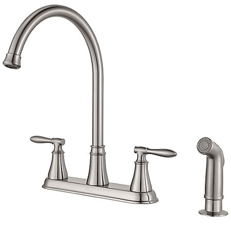 Stainless Steel Glenora 2-Handle Kitchen Faucet - F-036-4GNS - 1