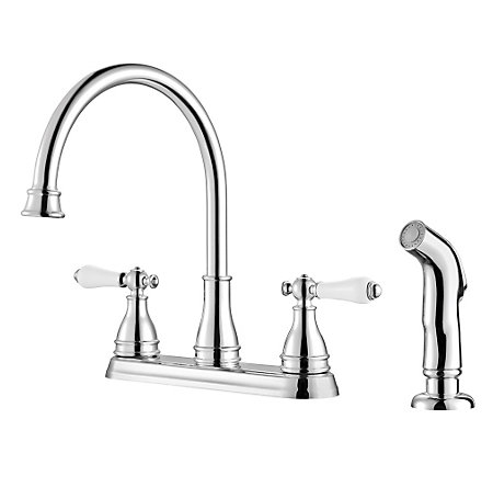 Polished Chrome Sonterra 2-Handle Kitchen Faucet - F-036-4SNC - 1
