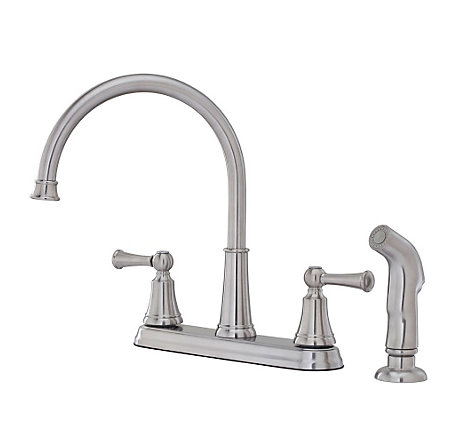 Stainless Steel Bremerton 2-Handle Kitchen Faucet - F-036-4SVS - 1