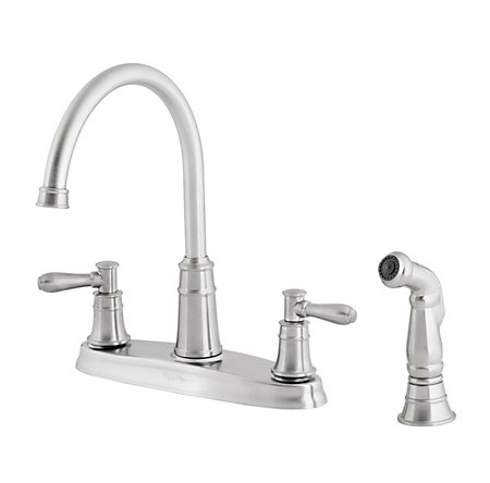 Stainless Steel Harbor 2-Handle Kitchen Faucet - F-036-CL4S - 1