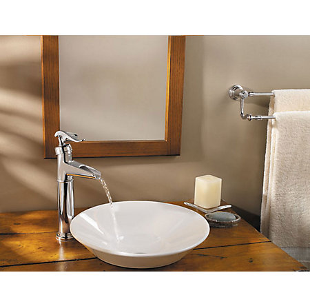 Polished Chrome Ashfield Single Handle Vessel Faucet - LF-M40-YP0C - 2