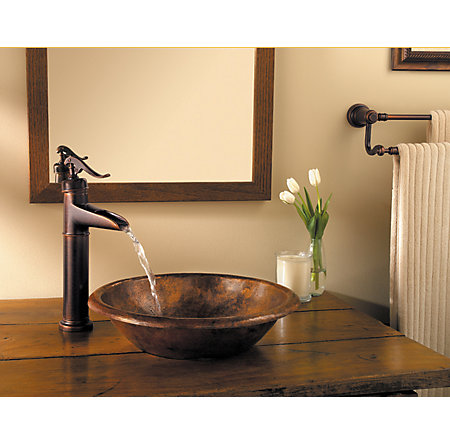 Rustic Bronze Ashfield Single Handle Vessel Faucet - LF-040-YP0U - 2