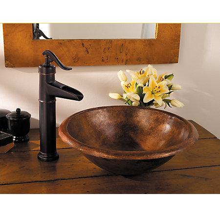 Tuscan Bronze Ashfield Single Handle Vessel Faucet - LF-M40-YP0Y - 4