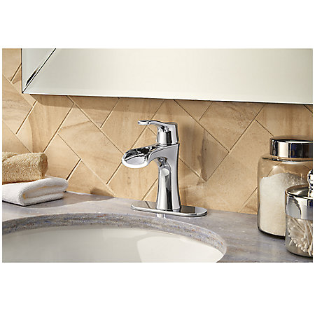 Polished Chrome Aliante Single Control, Centerset Bath Faucet - F-042-ATCC - 4