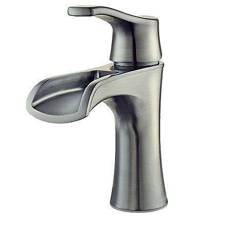 Brushed Nickel Aliante Single Control, Centerset Bath Faucet - LF-042-ATKK - 1