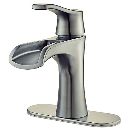 Brushed Nickel Aliante Single Control, Centerset Bath Faucet - LF-042-ATKK - 2